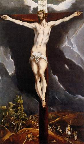 Christ on the cross [2] by Greco